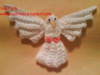 Crocheted Dove Christmas Tree Ornament