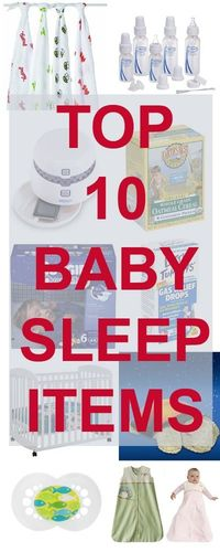 10 critical items for helping babies sleep through the night