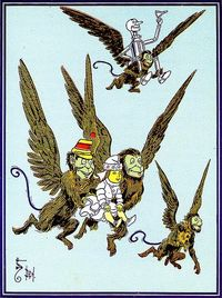 Flying Monkeys From a repro of the first Oz book--interior illustration by Denslow.