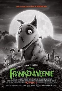 The new one-sheet movie poster for Frankenweenie.