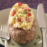 Tales of a Ranting Ginger: College Cuisine - stuffed Ham and Cheese potatoes