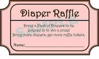 Printable Diaper Raffle Tickets