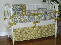 Natural Summer 3pc Baby Bedding Set. $268.00, via Etsy.