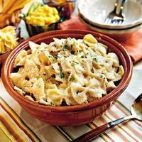 24 One-Dish Dinners | Chicken and Bow Tie Pasta | SouthernLiving.com