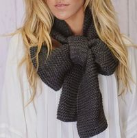 Knitted Bow Scarf