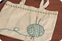 stitch a knitting bag
