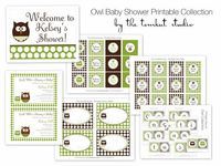 Super cute! Owl Baby Shower Printable Party Collection The by tomkatstudio, $45.00