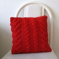 Ravelry: Cabled Tarn Pillow pattern by A la Sascha