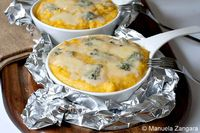 Polenta Concia: The recipe for a delicious North Italian dish: Polenta Concia, baked polenta with butter, gorgonzola...[read more at Food Frenzy]