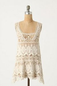 Anthropologie Ivory Tower Tank