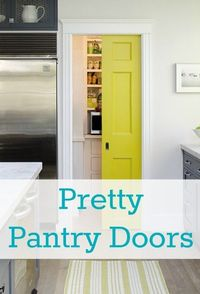 A collection of pretty pantry doors from around the web at Remodelaholic. #doors #pantry
