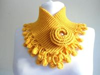 Yellow mustard neckwarmers autumn wool by likeknitting on Etsy, $27.99