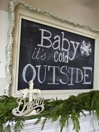 Very cute idea for over the fireplace.