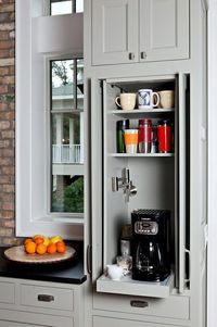 Pull out shelves for small appliances